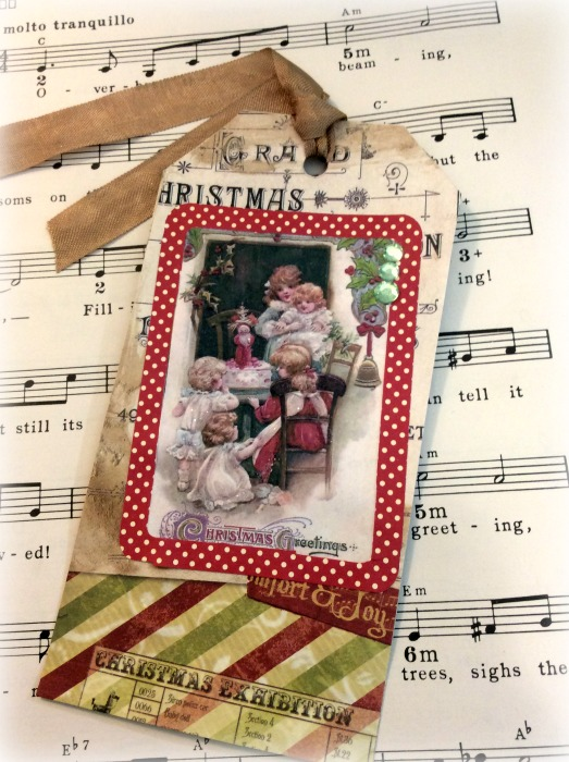Christmas Greeting jumbo gift tag