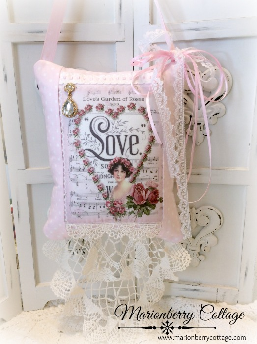 Love KEEPSAKE Gift Pillow w/matching tag and sachet