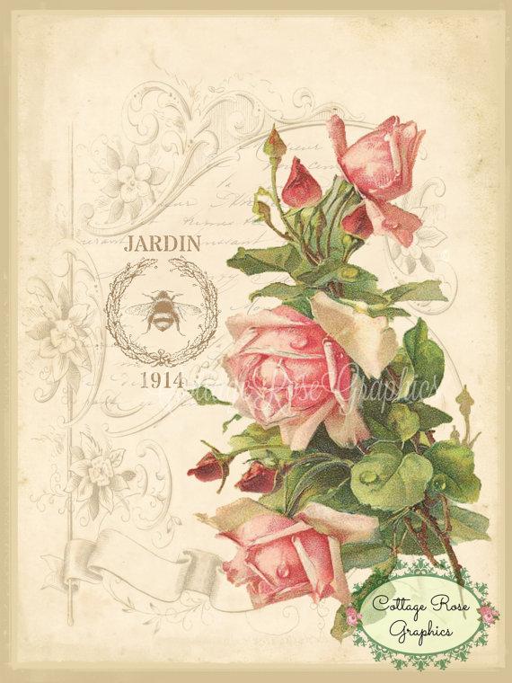 Jardin 1914 French art print