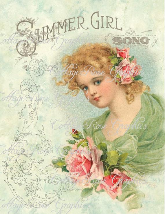 Summer Girl Song art print
